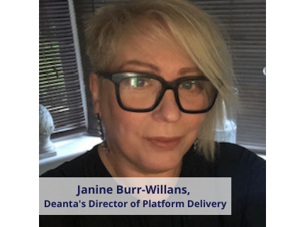 Janine Burr-Willans, Deantas Director of Platform Delivery